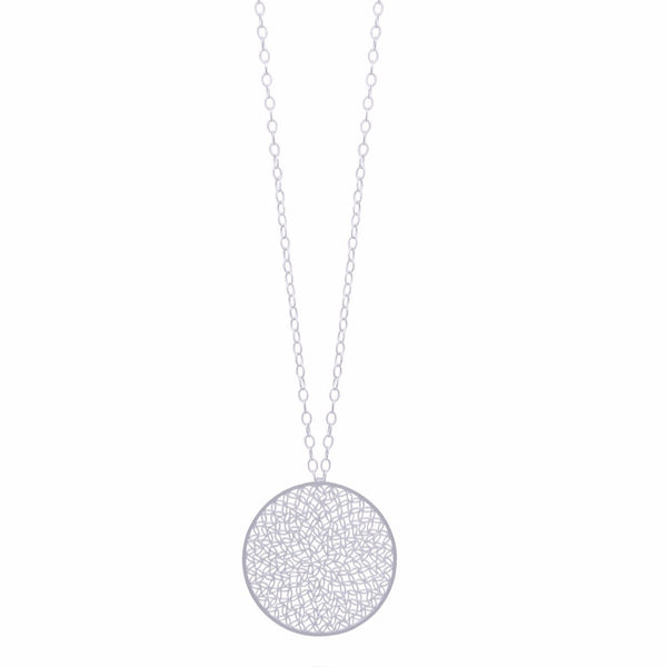 EMMA MEDIUM NECKLACE SILVER - Olmox