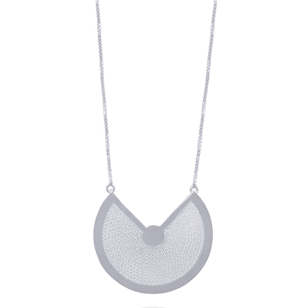 ESME NECKLACE LONG SILVER - Olmox