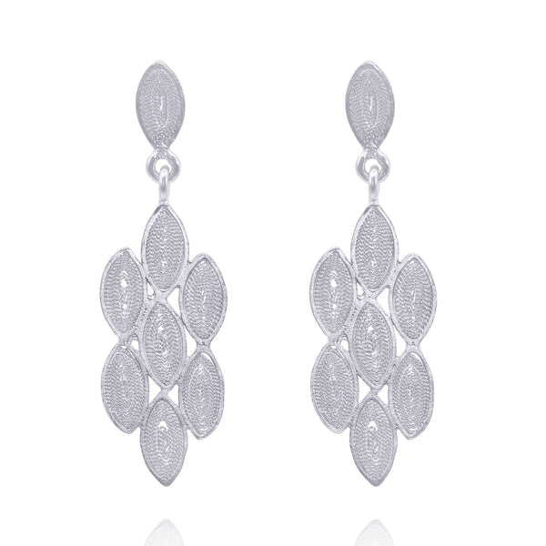 HOLLY EARRINGS  SILVER - Olmox