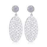 INDIGO MEDIUM EARRINGS  FILIGREE SILVER & GOLD - Olmox