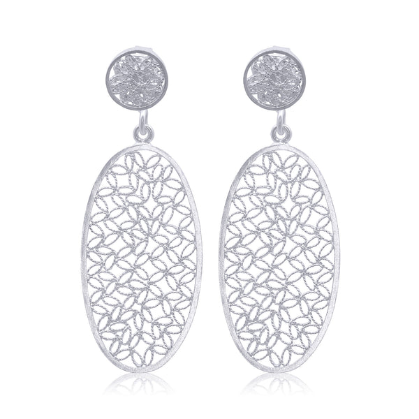 INDIGO EARRINGS SILVER - Olmox