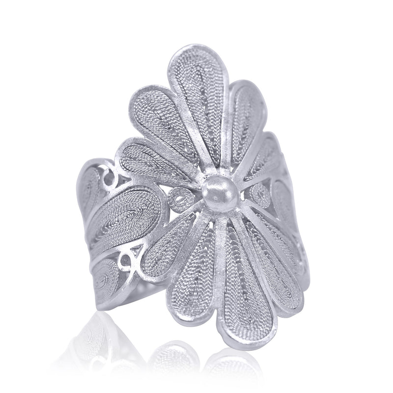 ISABEL SIGNATURE RING FILIGREE SILVER & GOLD - Olmox