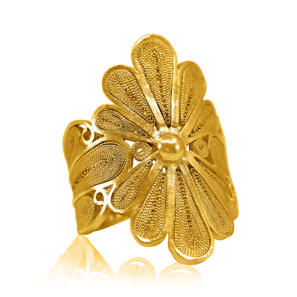 ISABEL RING SOLID GOLD 18K - Olmox