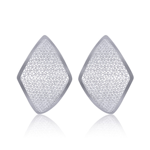 IVY STUD EARRINGS SILVER - Olmox