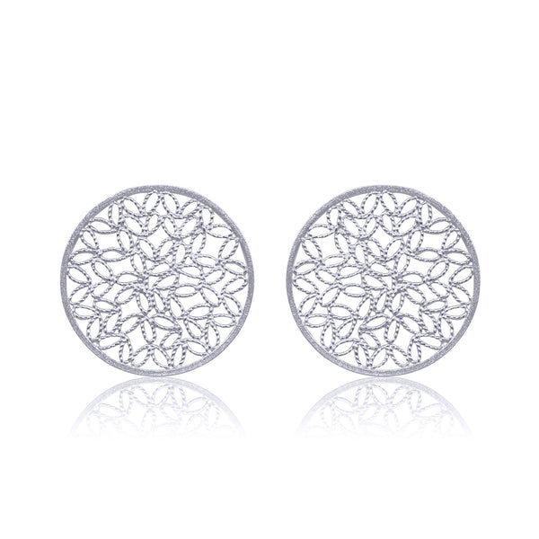 KRIN STUD EARRINGS FILIGREE SILVER & GOLD - Olmox