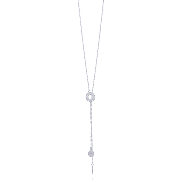 LASSO LONG NECKLACE SILVER - Olmox