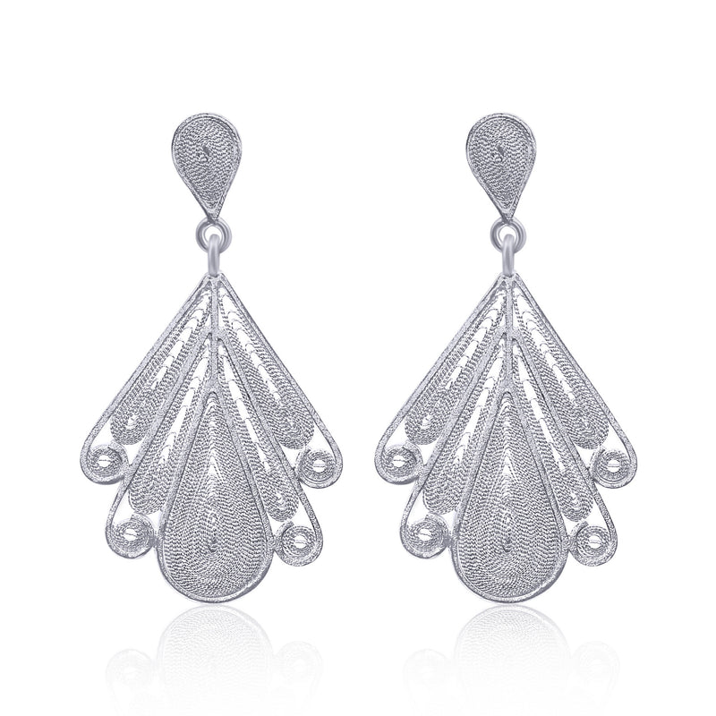 LILAC MEDIUM EARRINGS FILIGREE SILVER & GOLD - Olmox