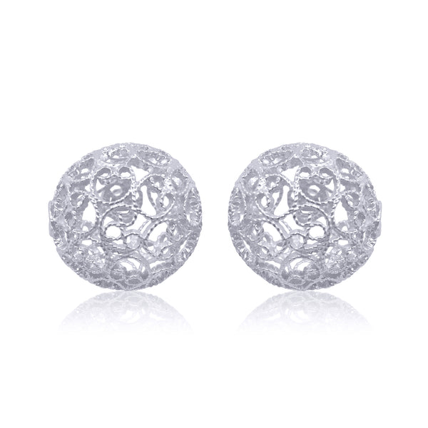 LUCRECIA STUD EARRINGS FILIGREE SILVER & GOLD - Olmox