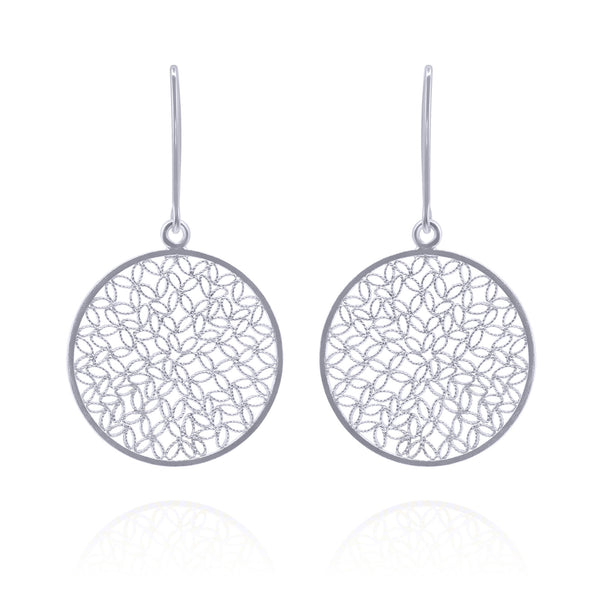 MADELYN MEDIUM EARRINGS FILIGREE SILVER & GOLD - Olmox