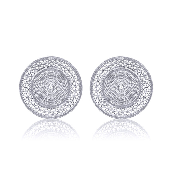 MAGGIE STUD EARRINGS SILVER - Olmox