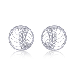 MARGO STUD EARRINGS SILVER - Olmox
