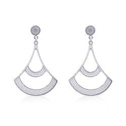 MELINA LARGE EARRINGS SILVER - Olmox
