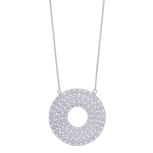 MEREDITH NECKLACE LONG SILVER - Olmox