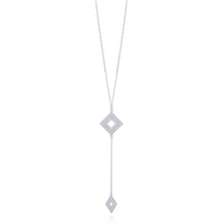 MILLIE NECKLACE LONG SILVER - Olmox