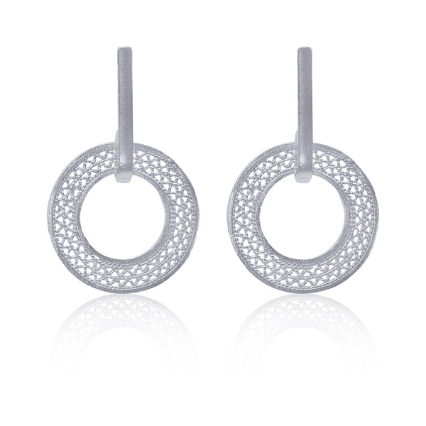 ORINOCO SMALL EARRINGS FILIGREE SILVER & GOLD - Olmox