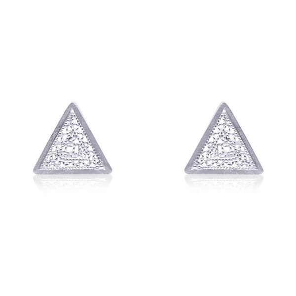 PILI STUD EARRINGS SILVER - Olmox