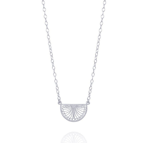 KAREN SMALL NECKLACE FILIGREE SILVER & GOLD - Olmox