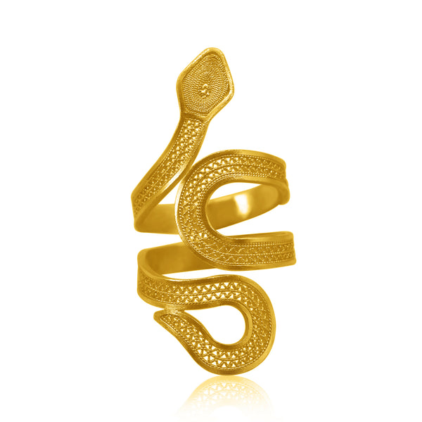 SNAKE RING GOLD - Olmox
