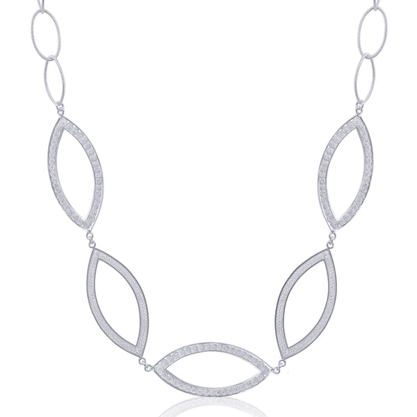 THEA NECKLACE LONG SILVER - Olmox