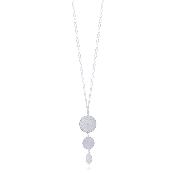 VIVIAN NECKLACE LONG SILVER - Olmox