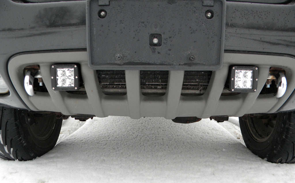 99 04 Grand Cherokee WJ Dually D2 LED Mounting Brackets Inside Bumper