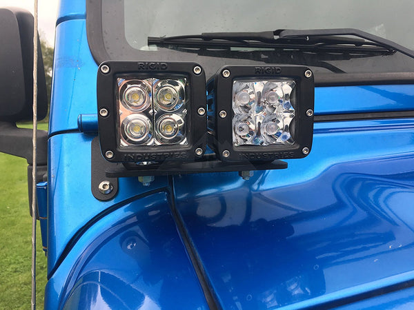 97 06 Jeep Wrangler Tj Dual Lower A Pillar Light Mounting