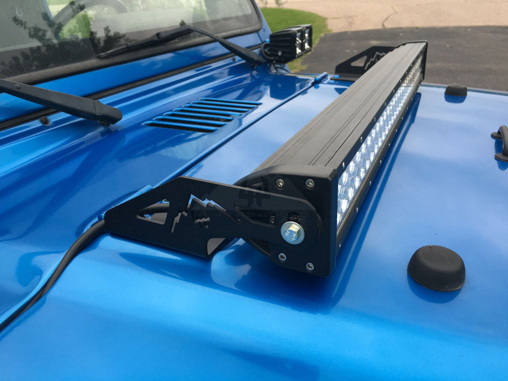 97 06 jeep wrangler tj 30 led light bar hood mounting brackets 97 06 jeep wrangler tj 30 led light bar hood mounting brackets 10j016 aloadofball Images