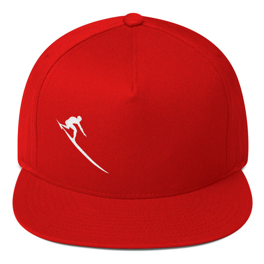 Red Charger Flat Bill Cap