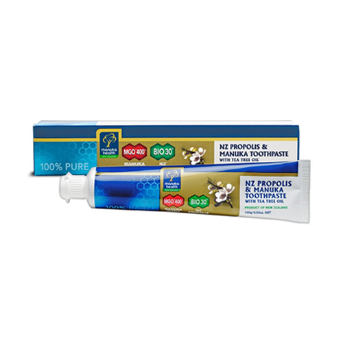 Manuka Toothpaste with Tea Tree Oil&Propolis, 100 gm