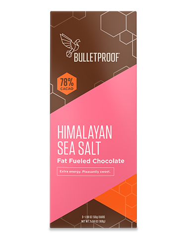 Chocolate fuel bars, himalayan salt