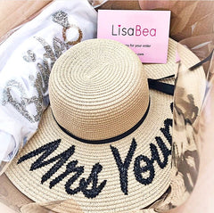 PERSONALISED STRAW HAT from £25.00