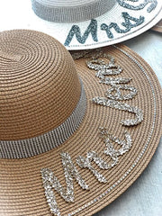 PERSONALISED DIAMANTE STRAW HAT from £28.00