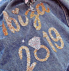 PERSONALISED DISTRESSED DENIM JACKET From £65.00