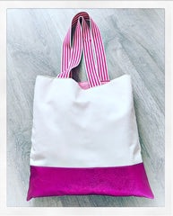 Canvas / Leather Personalised Shopper (mini)
