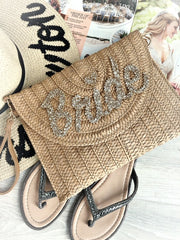 PERSONALISED STRAW CLUTCH £30.00