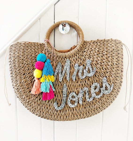 PERSONALISED STRAW BASKET FROM £45.00