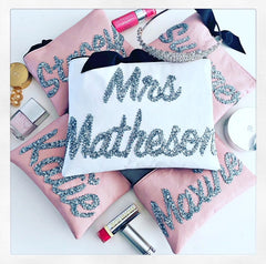 "PERSONALISED LEATHER ""MRS"" CLUTCH from £33.00"