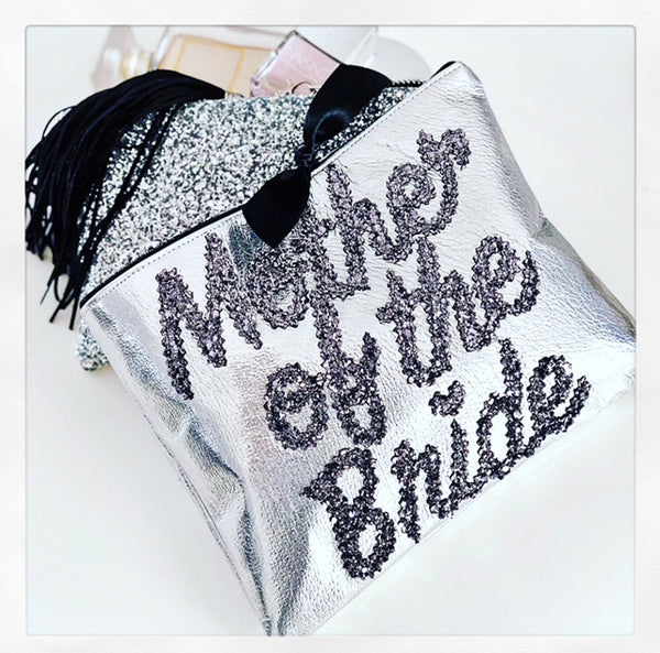 "LEATHER ""MOTHER OF THE BRIDE"" CLUTCH FROM £45.00"
