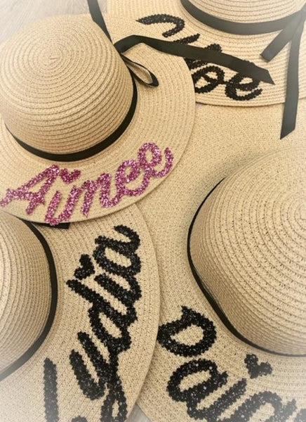PERSONALISED KIDS STRAW HAT