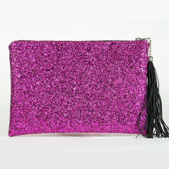 LARGE PERSONALISED FULL GLITTER CLUTCH