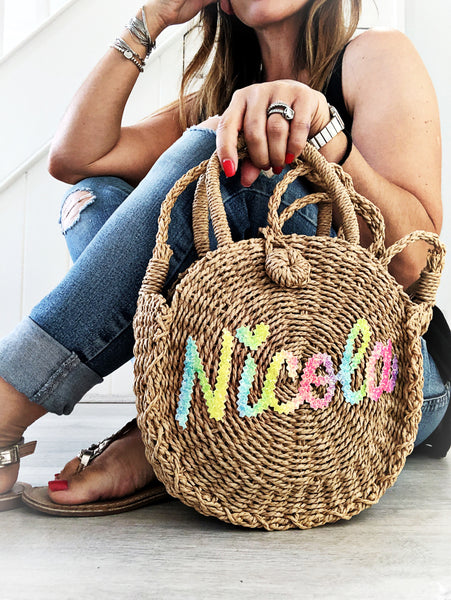 MINI STRAW BAG from £28.00 (BACK IN STOCK MARCH)