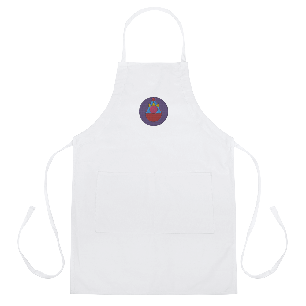 Rock Mercury Embroidered Apron
