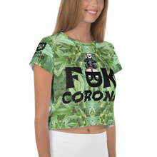 F@#K CORONA All-Over Print Crop Tee
