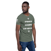 PROUD MARINE HUSBAND Short-Sleeve Unisex SLAY YOGA #MANBRAND T-Shirt
