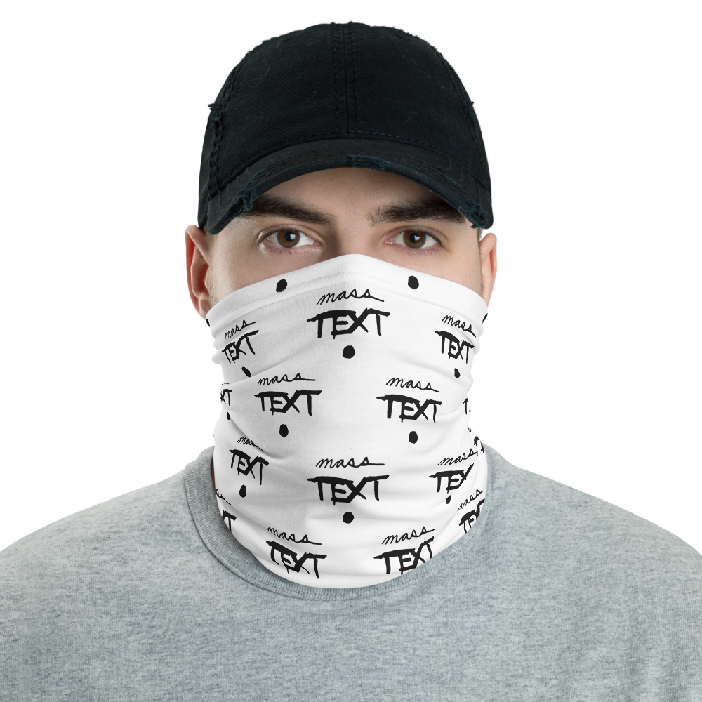 MASS TEXT Neck Gaiter