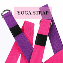 Yoga Stretch Strap Adjustable Sport Yoga Belts D-Ring