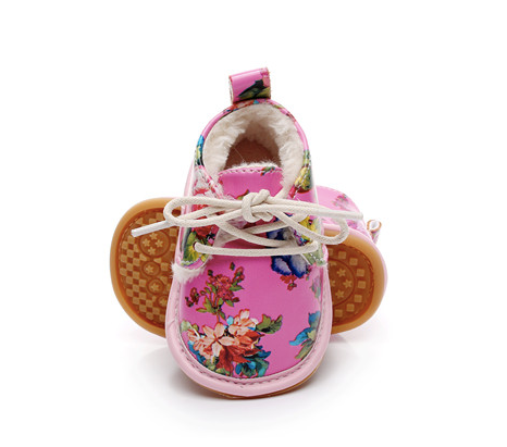 Floral Baby Shoes