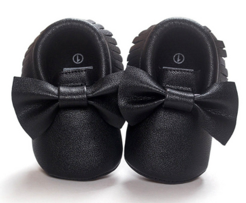 Black Bow Tie Mocassins