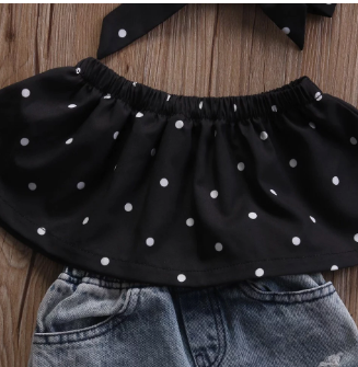 Polka Dot Denim Set