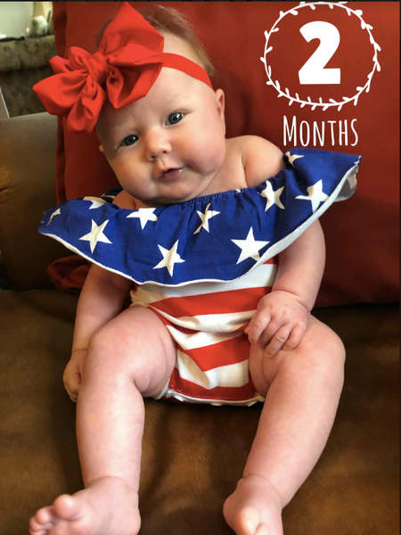 Flag & Star Romper